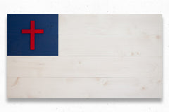 Christian wood flag, wooden wall art by Patriot Wood