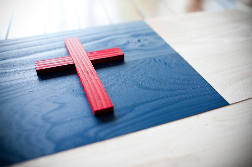 Christian Wood Flag from Patriot Wood