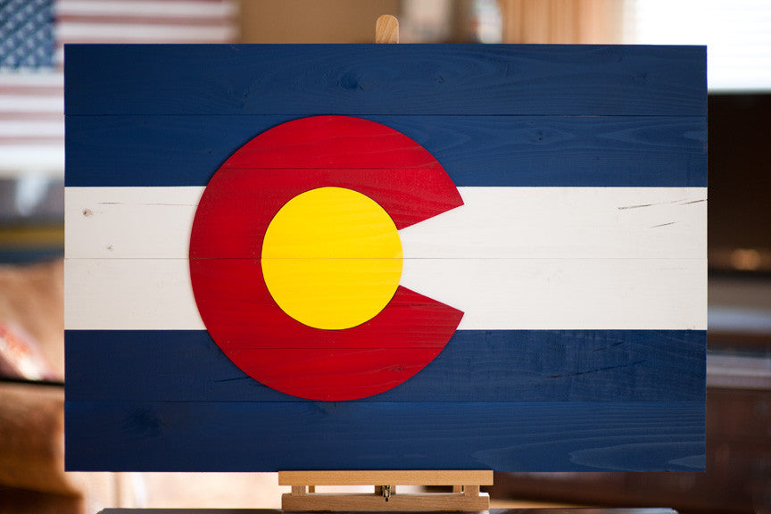 Colorado Wood Flag by Patriot Wood
