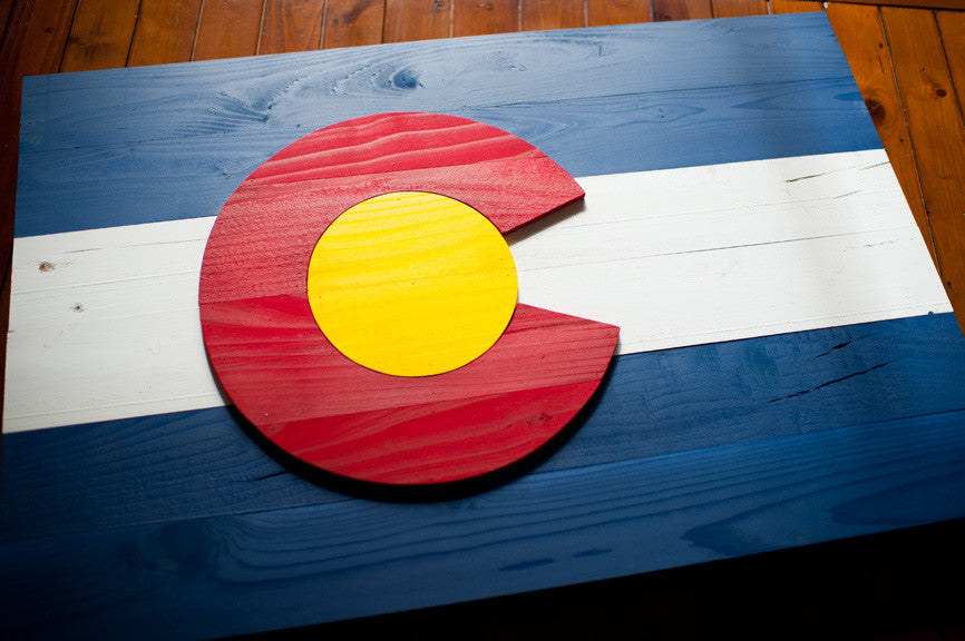 Colorado flag from Patriot Wood