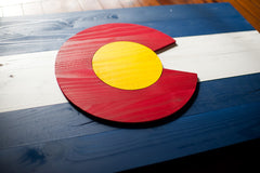 Colorado Wood Flag, Colorado wooden flag, wall art by Patriot Wood