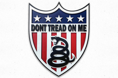 Dont Tread On Me Shield Wood Wall Art
