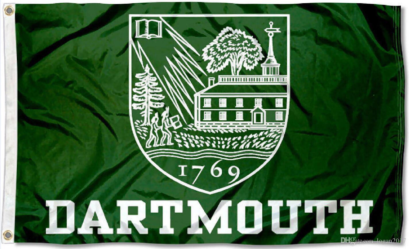 Custom Order Dartmouth Wood Flag