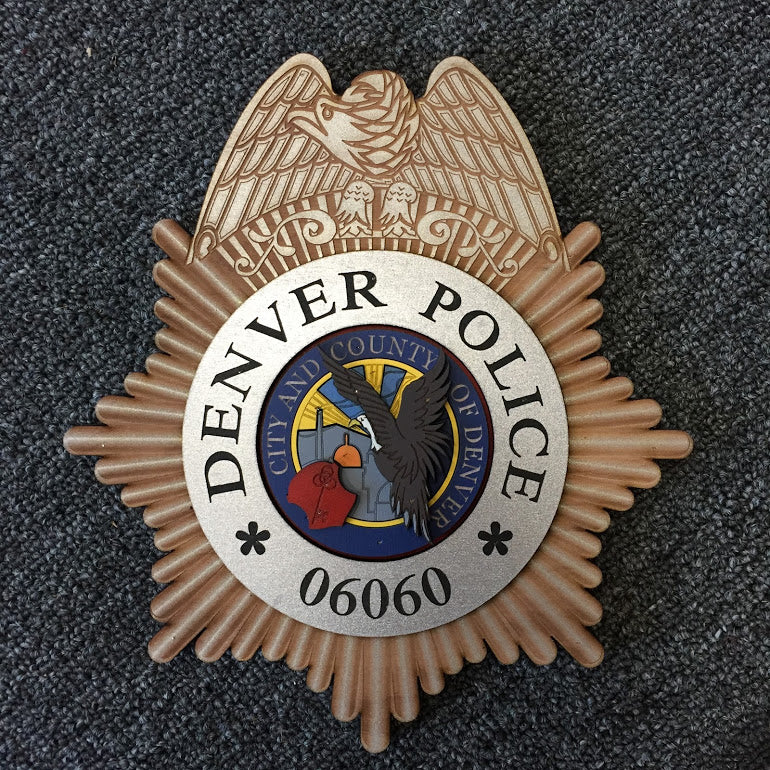 Custom Denver PD Wood Badge