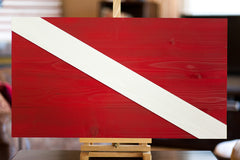 Diver down wood flag, scuba wooden wall art by Patriot Wood