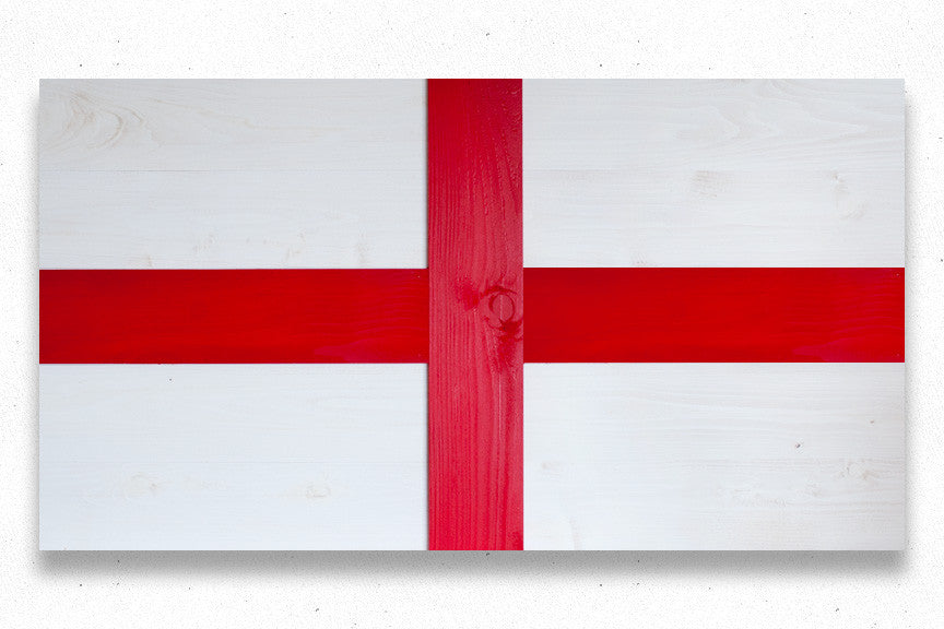 Patriot Wood England wood flag