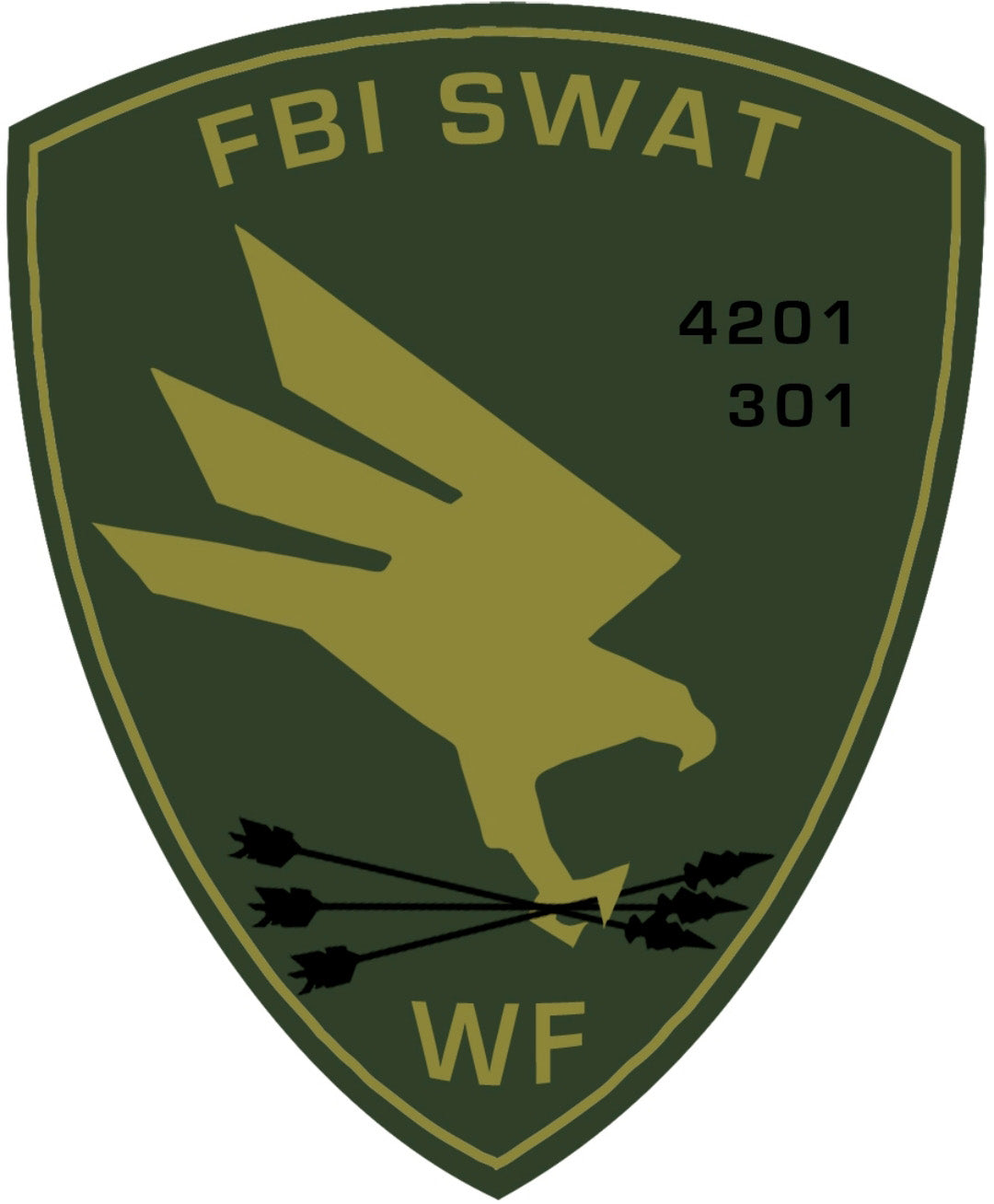 FBI SWAT Wood Shield