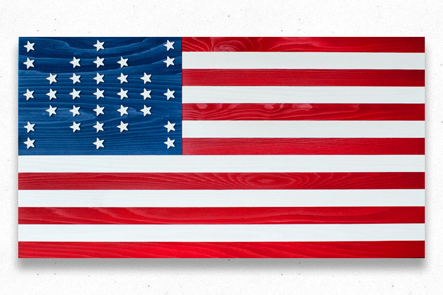 Fort Sumter Wood Flag, wooden wall art by Patriot Wood