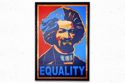Frederick Douglass Equality Wooded Wall Art by Patriot Wood