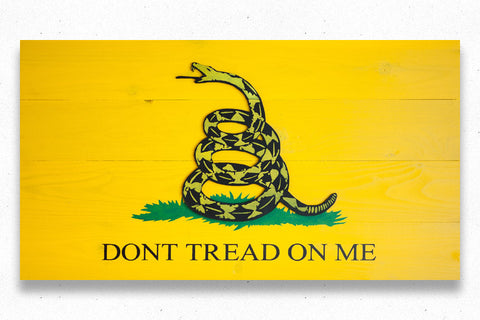 Gadsden Wood Flag, Gadsden wooden flag, wall art by Patriot Wood