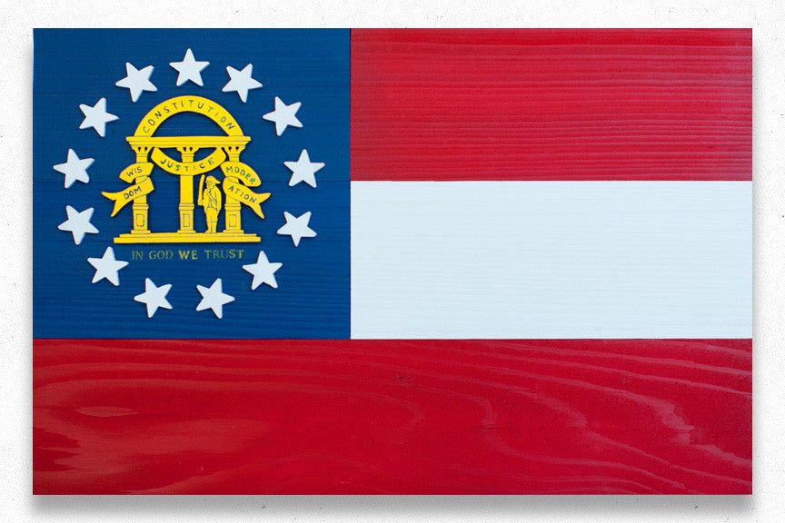 Georgia Wooden Flag by Patriot Wood