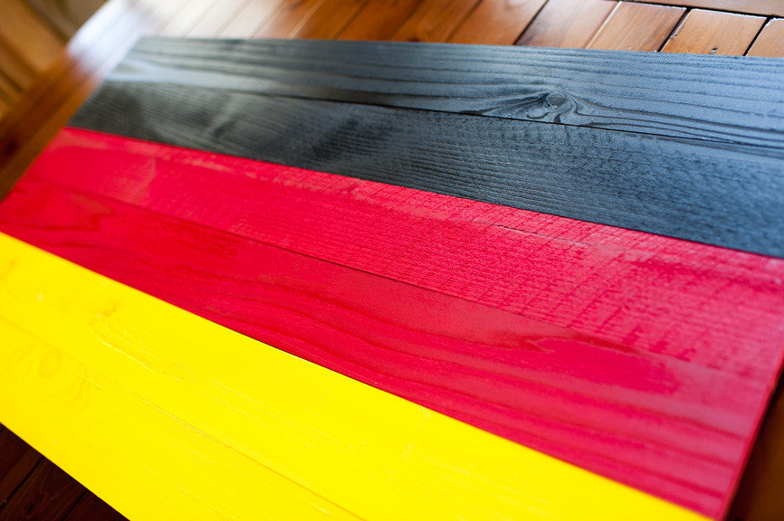Germany wood flag, German wooden wall art by Patriot Wood