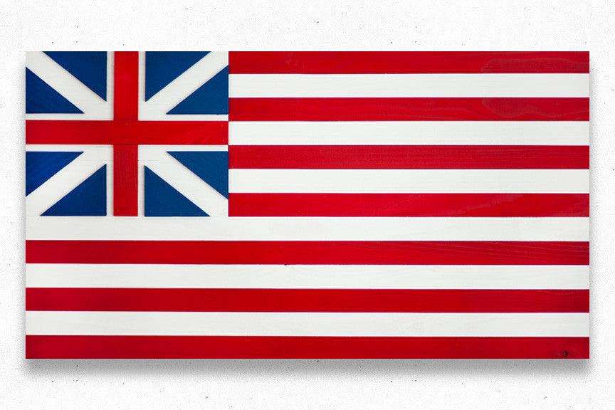 Grand Union wood flag, US wooden flag, wall art by Patriot Wood