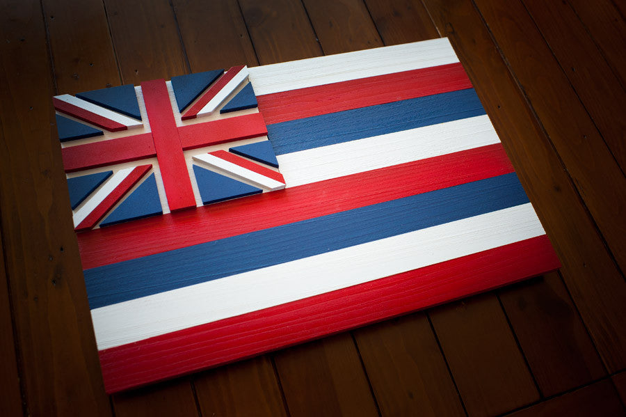 Hawaii Wooden Flag by Patriot Wood