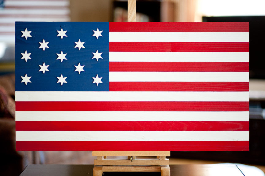 Hopkinson Wood Flag from Patriot Wood
