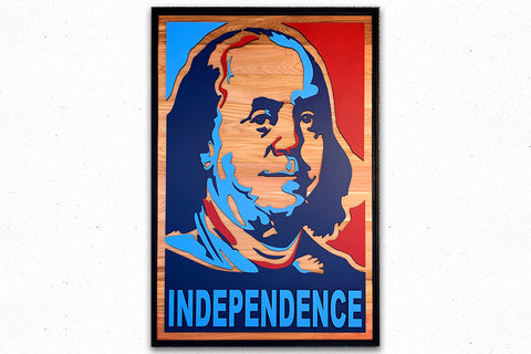 Ben Franklin INDEPENDENCE Wood Wall Art
