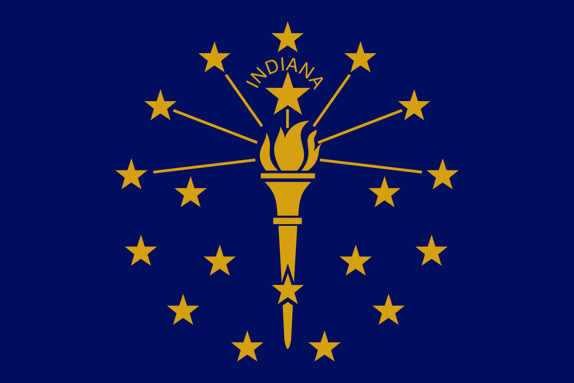 Indiana Vintage Wood Flag