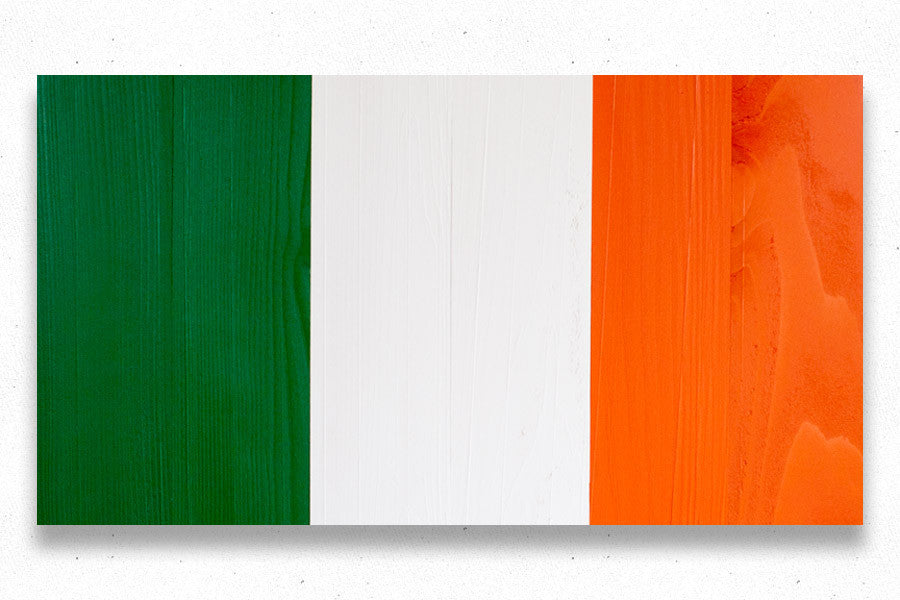 Ireland wood flag from Patriot Wood