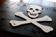 Jolly Roger wood flag, pirate wood wall art by Patriot Wood