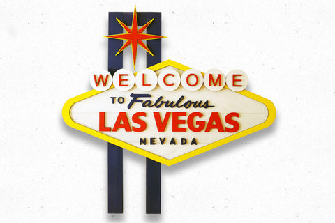 Welcome To Las Vegas Wood Sign