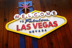 Welcome To Las Vegas wood sign handmade by Patriot Wood