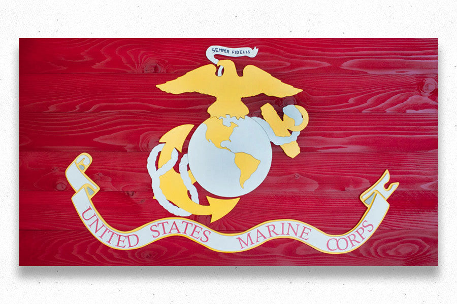 Marine Corps Flag by Patriot Wood