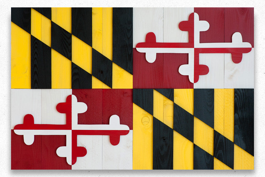 Maryland wood flag from Patriot Wood