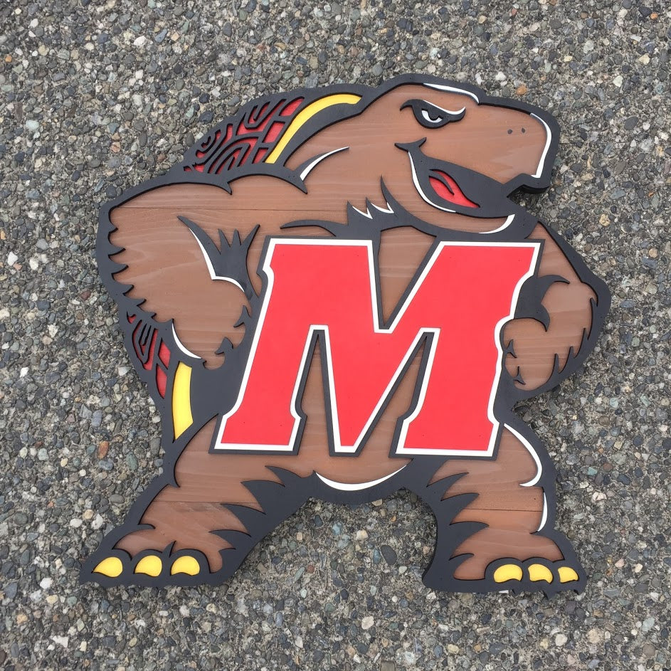 Maryland Terrapin Wood Wall Art