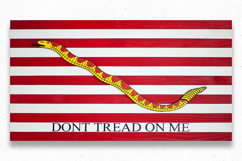 Navy Jack Wood Flag