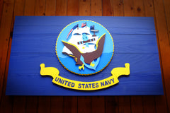 US Navy Wooden Flag by Patriot Wood