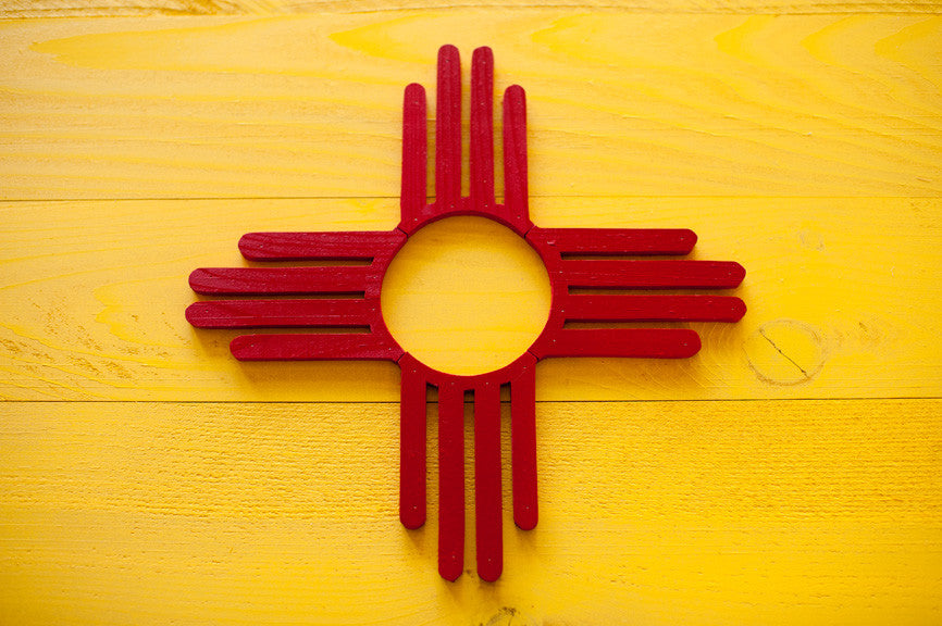 New Mexico Wood Flag Patriot Wood