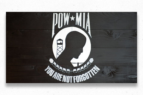 POW/MIA Wood Flag