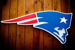 Patriots Custom Logo Wood Wall Art