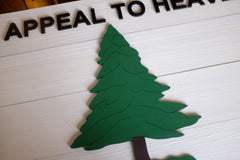Pine Tree Wood Flag