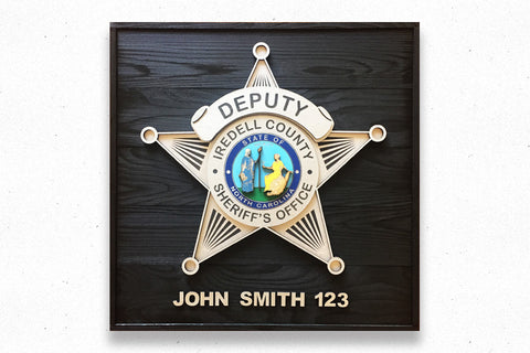 Custom Police Wood Badge