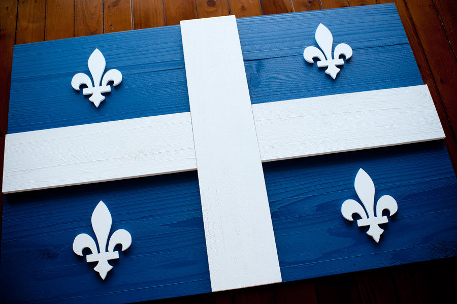 Quebec wood flag, Canada wooden flags by Patriot Wood