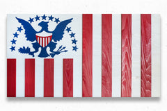 Ensign of the US Revenue Cutter Service Wood Flag