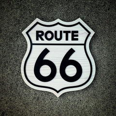 Route 66 Sign Wooden Wall Art by Patriot Wood