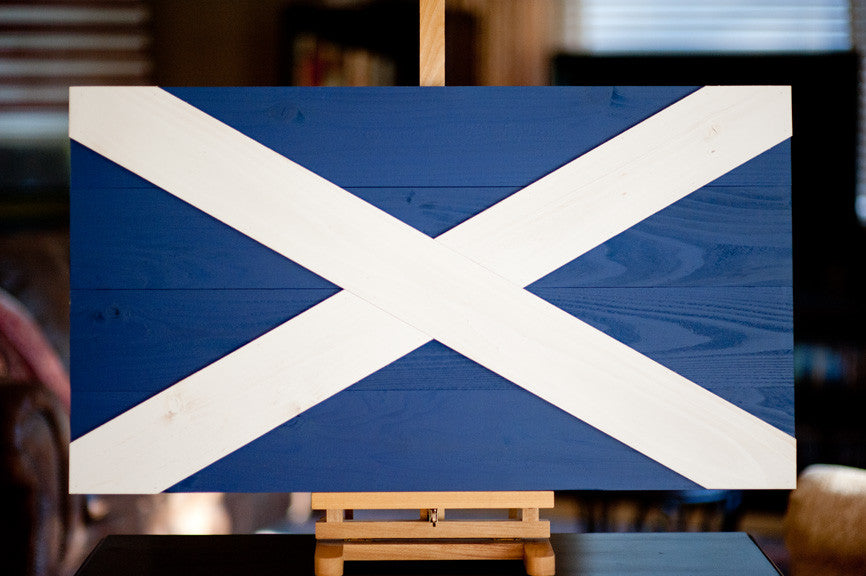 Scotland Wood Flag (Saint Andrew's Cross) from Patriot Wood