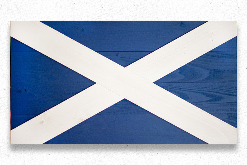 Scotland wood flag
