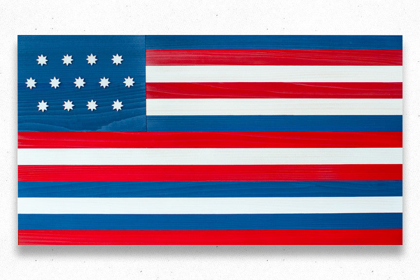 Serapis Wooden Flag by Patriot Wood