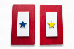 Military Service wood flag, wooden wall art by Patriot Wood