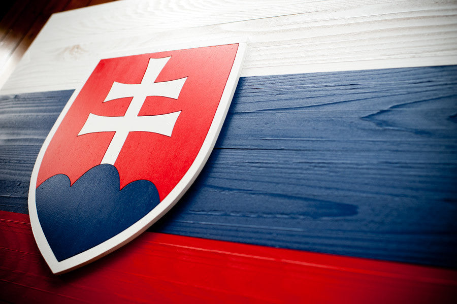 Slovakia wood flag from Patriot Wood