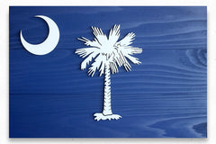 South Carolina Wood Flag