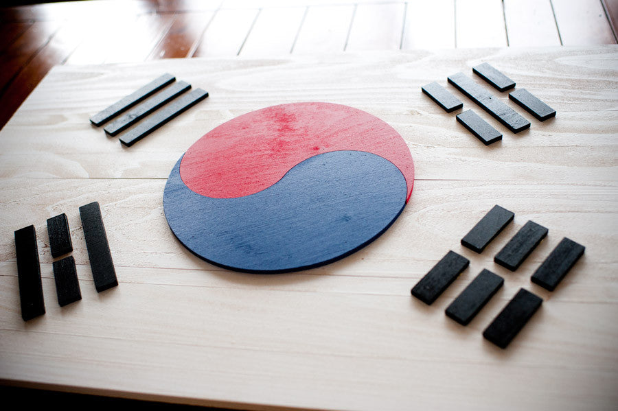 South Korea wood flag from Patriot Wood