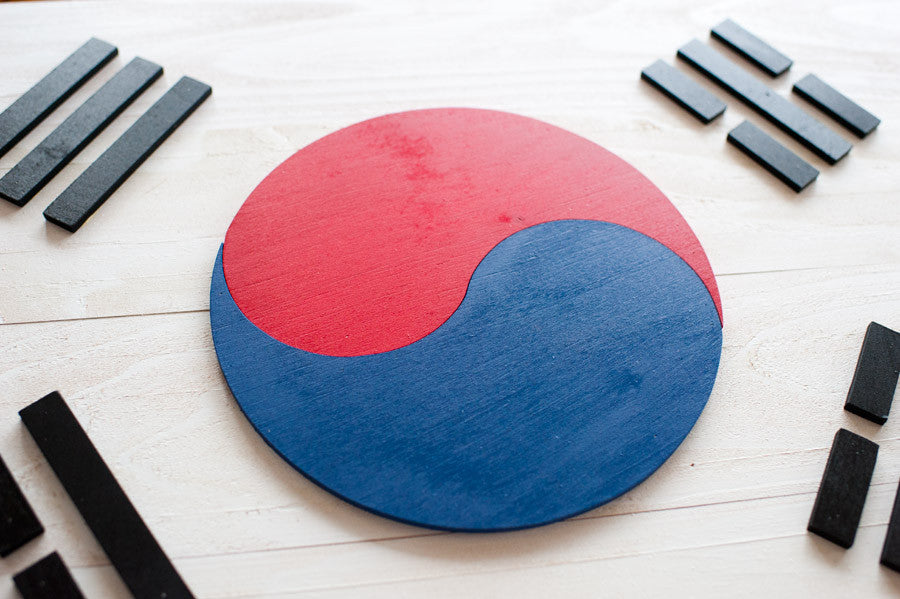 South Korea wood-flag details from Patriot Wood