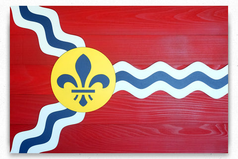 St. Louis Wooden Flag by Patriot Wood