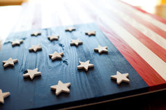 Star Spangled Banner wood flag, US wooden flag by Patriot Wood
