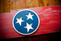 Tennessee Wooden Flag by Patriot Wood