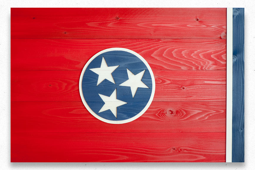 Tennessee wood-flag details from Patriot Wood